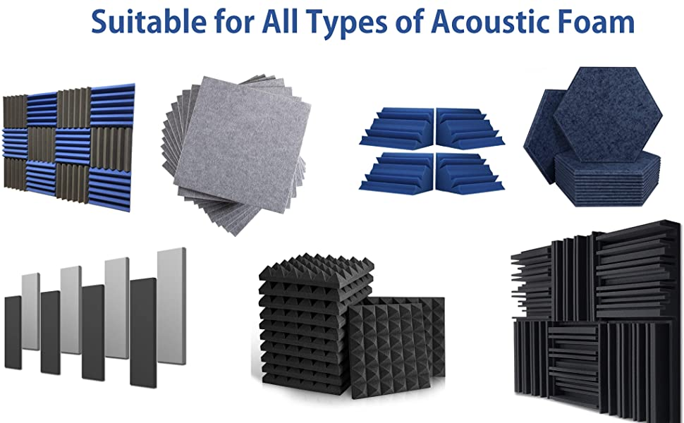 Suitable for all type of acoustic foam
