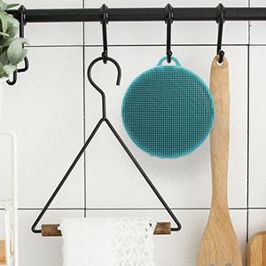 silicone body brush exfoliating shower scrubber men women gift