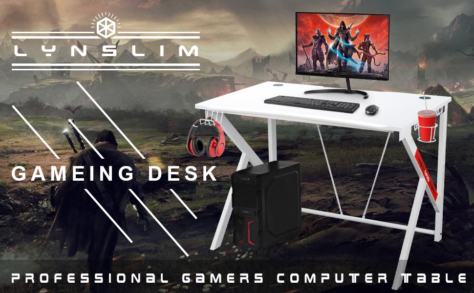 K-shaped gaimg desk