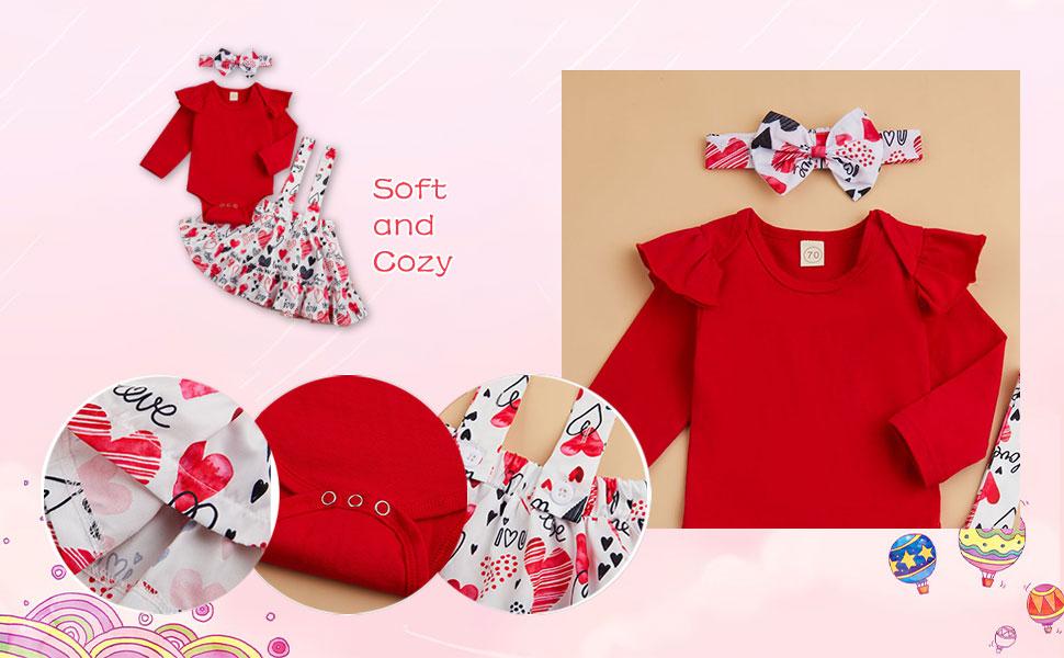 Infant girl valentine skirt clothes
