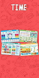 Educational Placemats Time Money Seasons Calendar