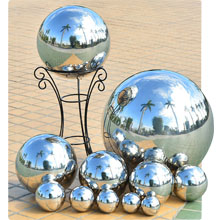 Kanff Gazing Ball Durable Stainless Steel 5PCS Gazing Ball Home Gazing Globe Mirror Ball 1 X 8 Inch,1 X 6 Inch,1X 5 Inch,2X 4 Inch