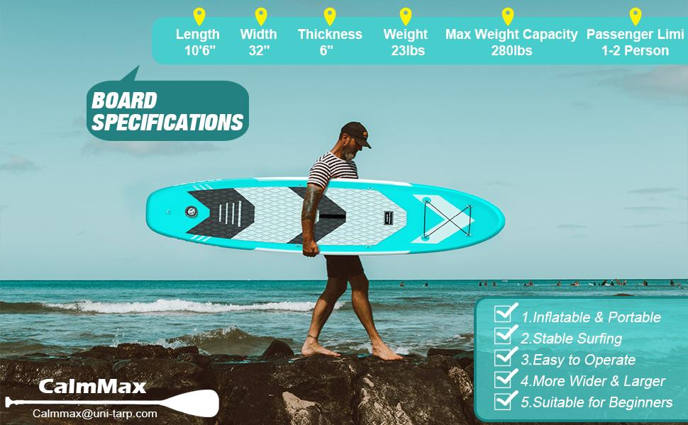 SUP Board Stand up Paddle Summer aufblasbar 4Modelle 320x84x15cm 130KG Paddling