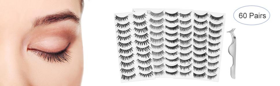 Lurrose false lashes 60 pairs 2