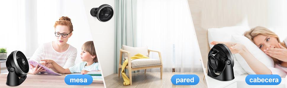 VOXON Ventilador de Mesa/Pared Ventiladores de Mesa Potente y ...