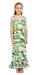 Hawaii Hangover Girl's Round Neck Dress