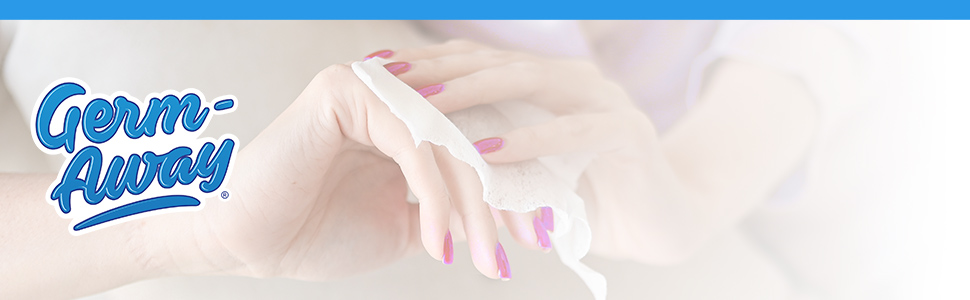 germ-away wipes aloe hand hygiene