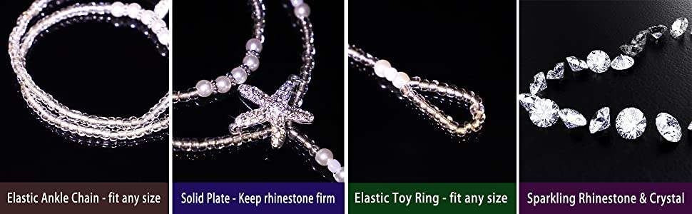 Barefoot sandals are elastic design, one size fits most