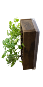 barnwood style planter brown