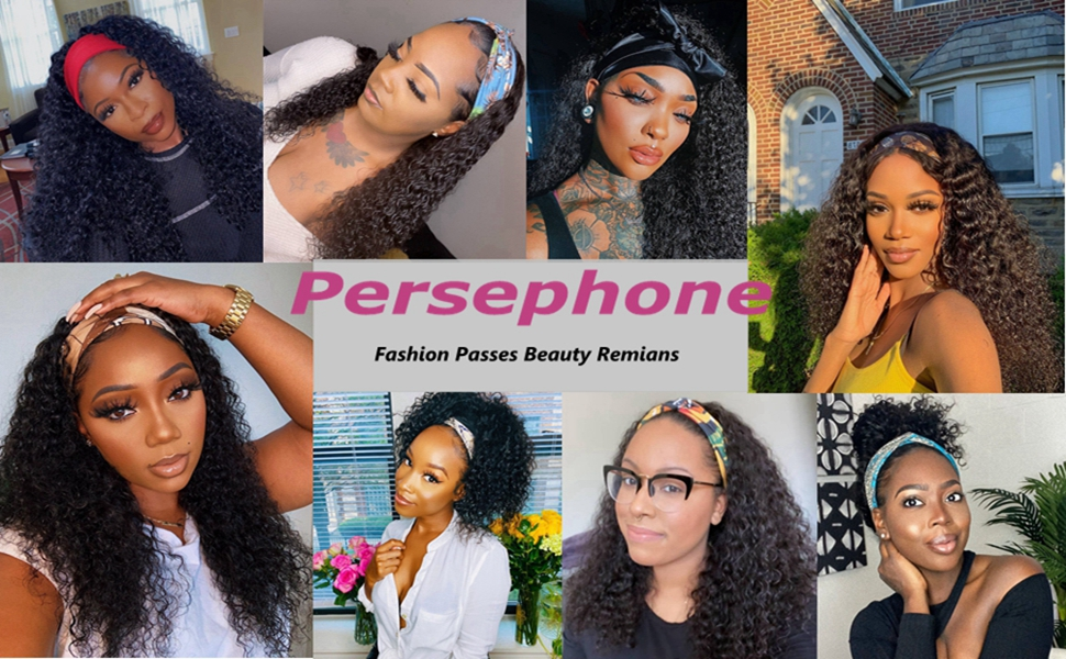Persephone Headband Wigs for Black Women