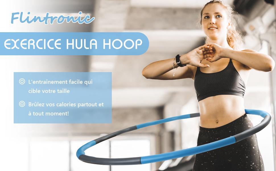 Mousse Rembourr/é Cercle Hoola Hoop pour Aerobic lexercice ROMIX Hula Hoop Professionnel Largeur R/églable Cerceau de Fitness Adapt/é Adultes et Enfants Sports Gym Danse Perte de Poids