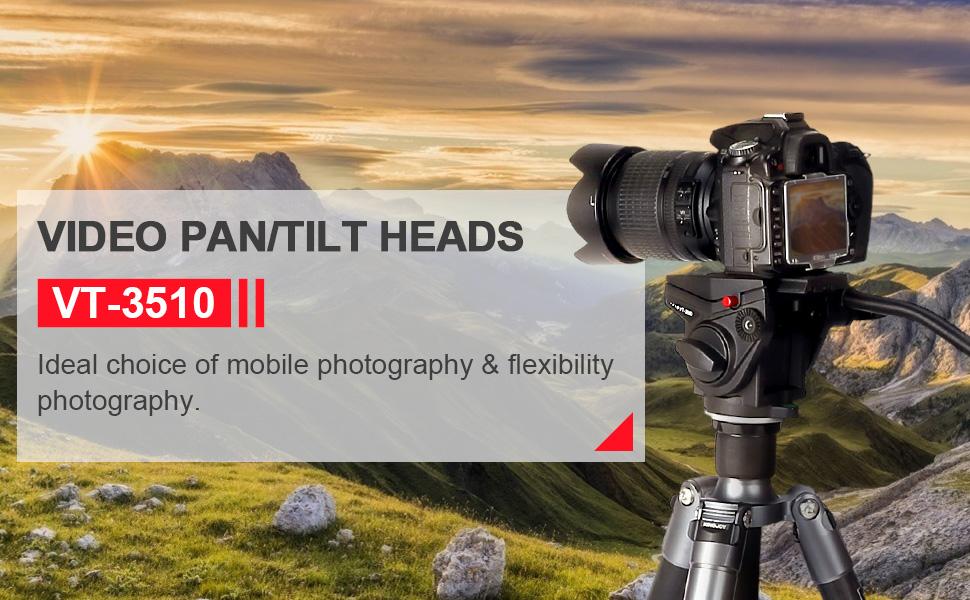 Professional Video & Bird Watching Pan/Tilt Heads - VT-3510