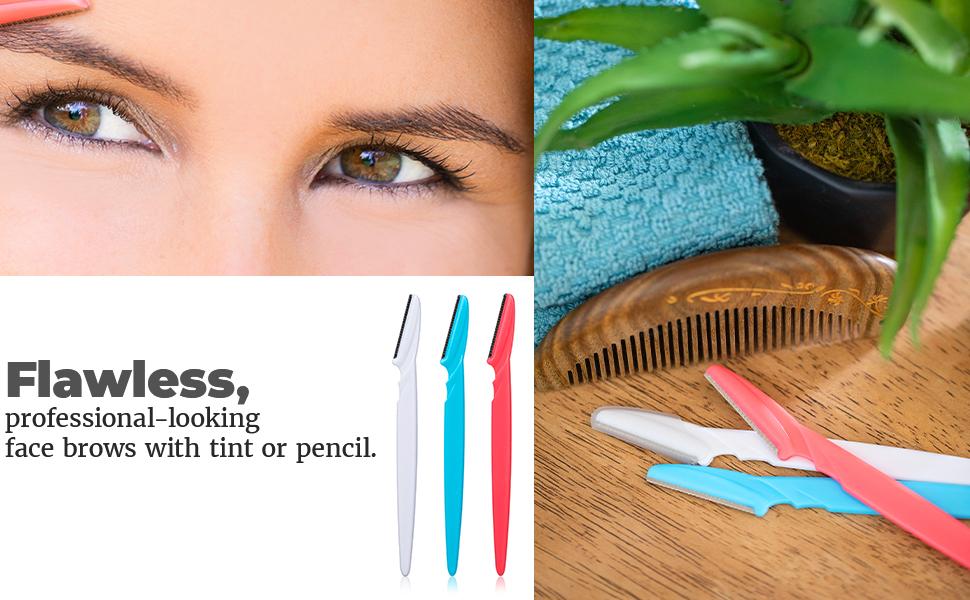 Dermaplaning tool facial razor dermaplane women face tinkle stacked skincare glo eyebrow razors