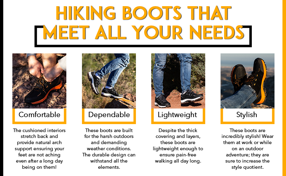These waterproof boots for hiking are lightweight, stylish and ready to take on the challenges