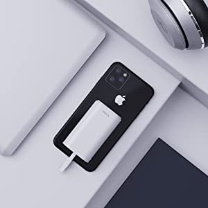 iWALK Cargador portatil movil 9000mAh Power Bank Mini bateria Externa movil Cable Incorporado Compatible con iPhone 11, XS, XR, X, 8, 8 Plus, 7, iPod, ...