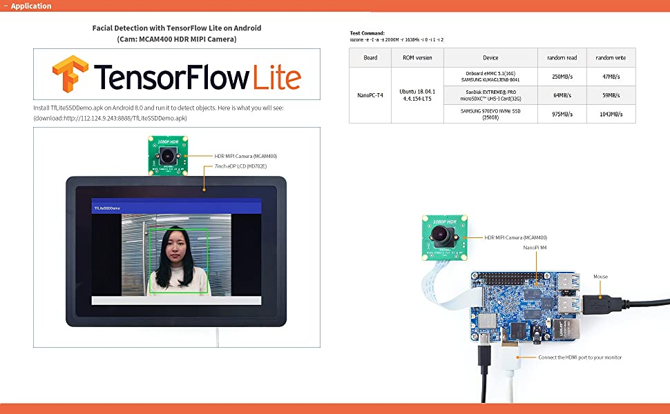 NanoPC-T4 Nanopi RK3399 development board Android 7.1 Lubuntu mother board AI and deep learning