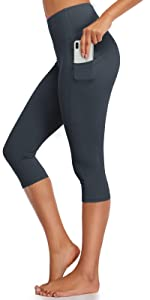 Capris yoga leggings with pockets