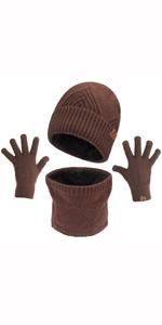 hat scarf glove set for men