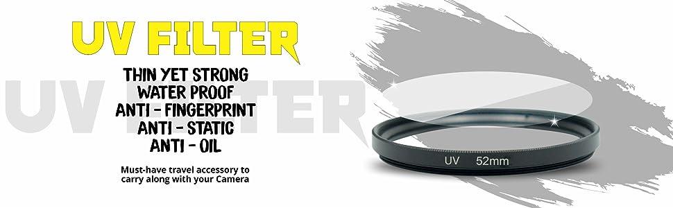 uv filter, uv filter 52mm, 52mm uv filter, camera lens, camera filter, camera accessories, camera UV