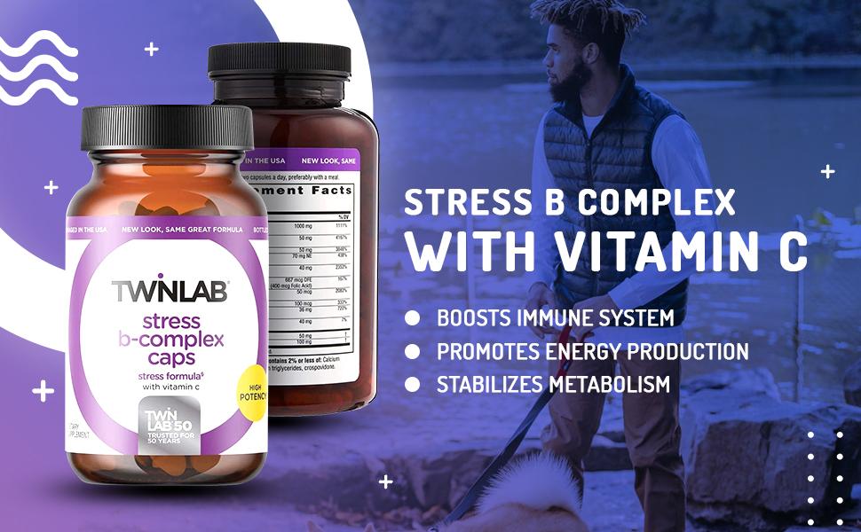 TwinLab Stress B-Complex 250 Caps with Vitamin C