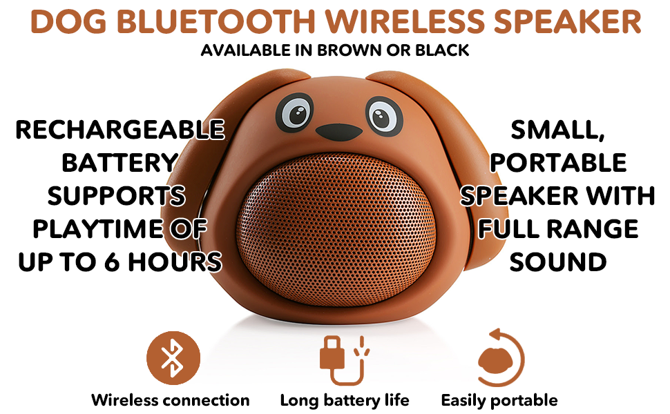 HUGMO Dog Compact Bluetooth Portable Speaker