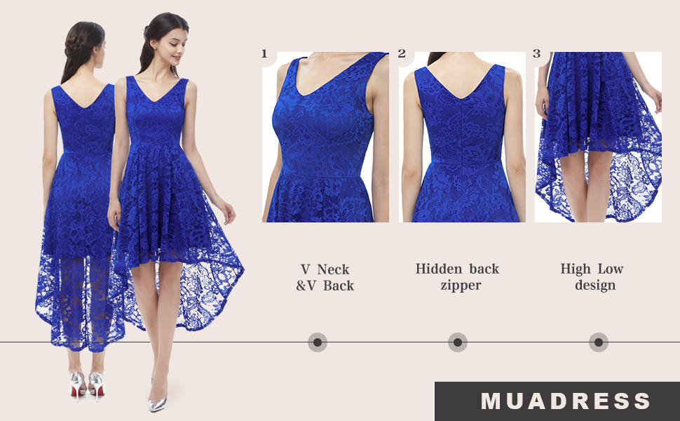 floral lace formal party dress