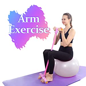 fitness elastic sit up fitness equipment tension rope 4-tube fitness rope foot sit-up pedal exercise
