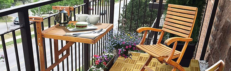 Estocolmo Ajustable Plegable Cubierta de balcón Mesa para Colgar ...