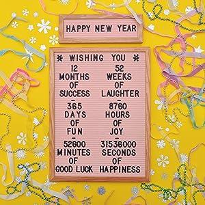 new year celebration felt like sharing felt letter boards