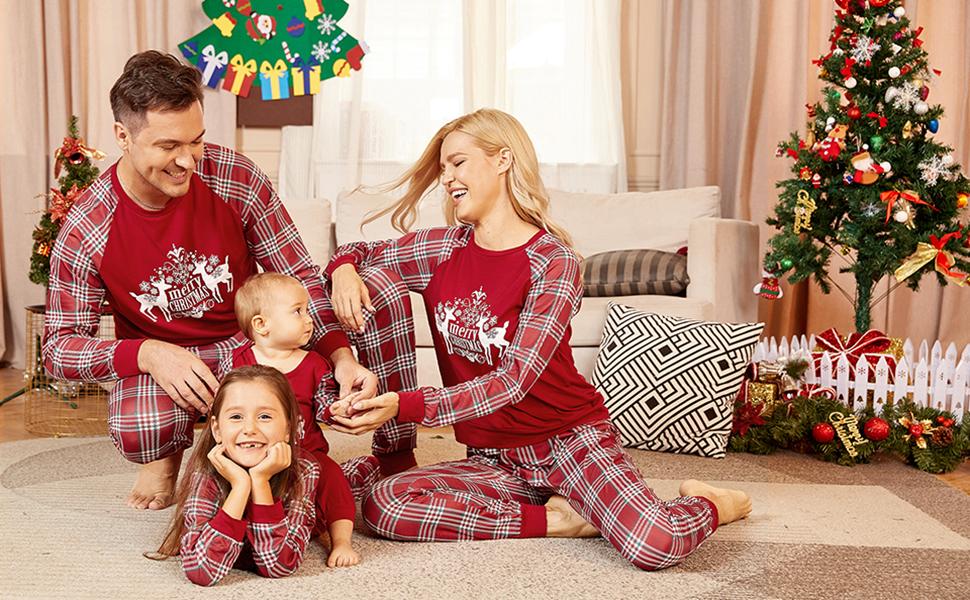 Christmas Pjs Julianne Originals PRIMARY SANTA  Blue Monogram Pajamas Christmas Tree Personalized Pajamas