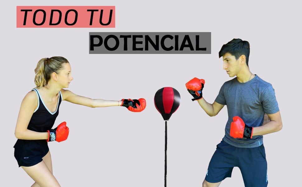 Calma Dragon Punching Ball Adultos Saco de Boxeo, Práctica de Boxeo Altura Ajustable de pie Bola