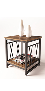 """17.7"""" end table"""