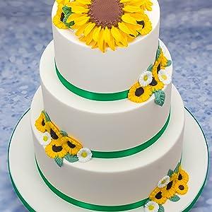 sunflower wedding cake mould