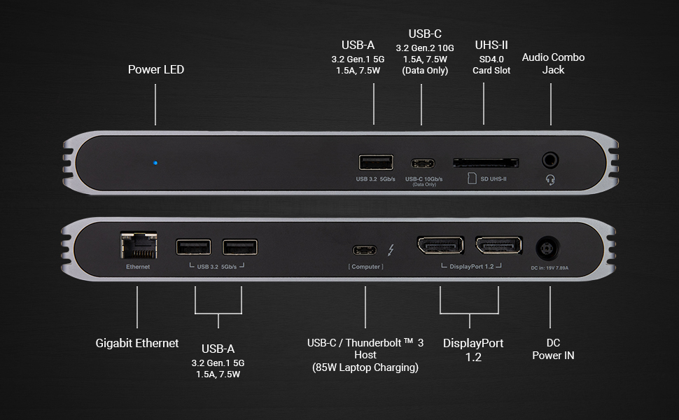 CalDigit USB-C Pro Dock Technical Specifications