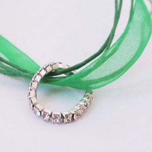 Garden of Greens Layered Stretch Elastic Bead Toe Ring Set