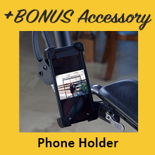 Upwalker, UPWalker upright walker, walker, accessory, cell phone holder, smartphone, cell phone
