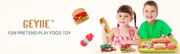 Geyiie fast food playset