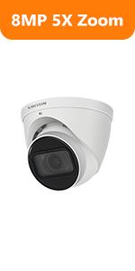 4k 8mp dahua ip camera turret surveillance outdoor camera 5xoptical zoom security camera