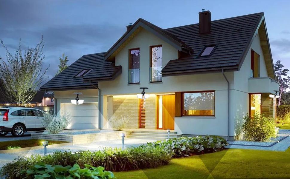 Слънчев сензор за движение светлина на открито