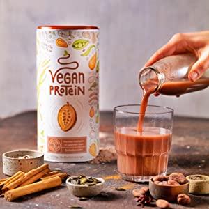 alpha foods vegetarisch veganistisch eiwitten proteinen protein vegan plantaardig vanille chocolade