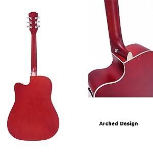 back of guitar