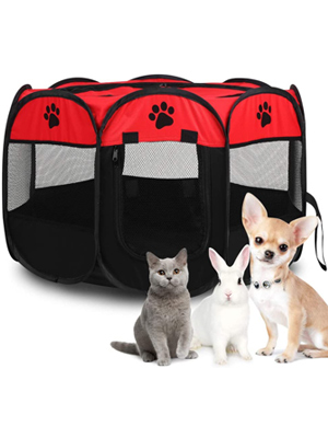 Pet Cat Dog Portable Foldable Crate Cage