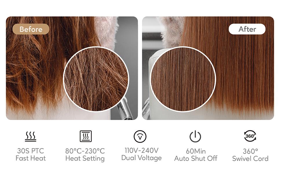 KIPOZI professional hair straightener