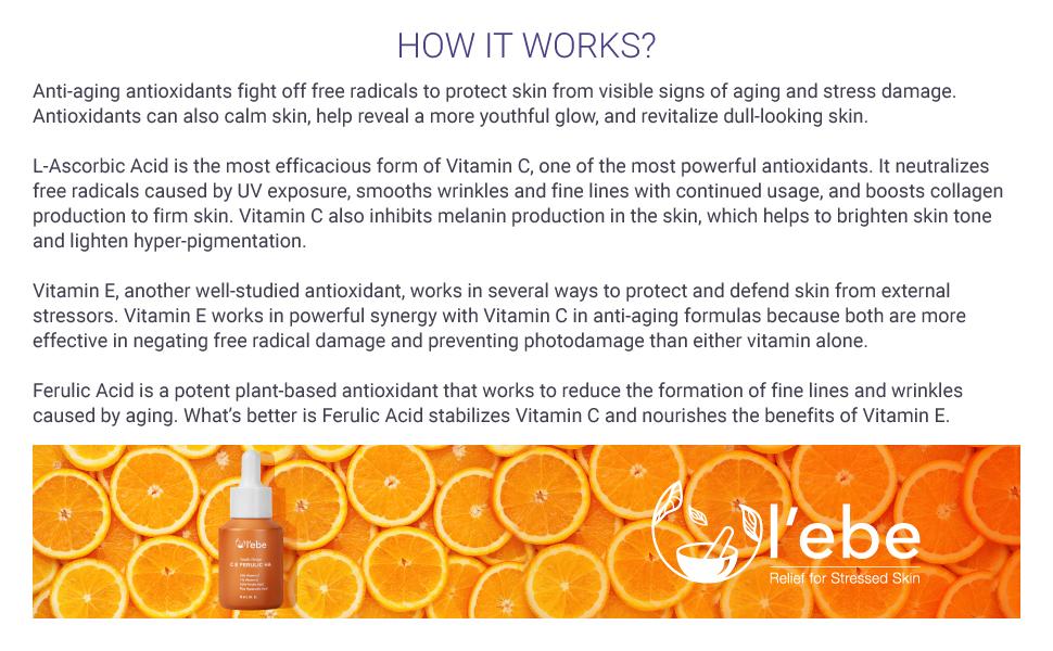 vitaminC anti-aging antioxidant brighten skin
