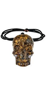 Healing Crystal Orgone Skull Jewelry for Men