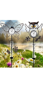 Rain Gauges with Thermometer, 2 Pack