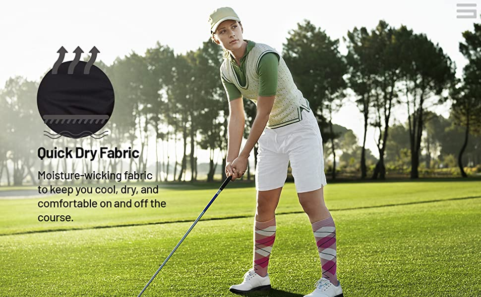 Dry fit fabric to keep you cool and comfortable on and off the golf course.