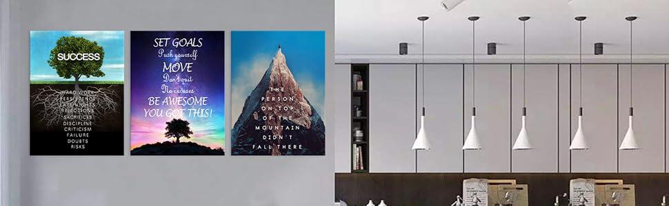 Success Tree Inspirational Entrepreneur Quotes Wall Art