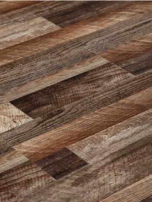 DecorKing Vinyl Plank Flooring SPC Core Wood Grain Finish Flooring Waterproof Floating Flooring Click Lock Interlocking Rigid Core Plank 5.5mm for Home Kitchen Office