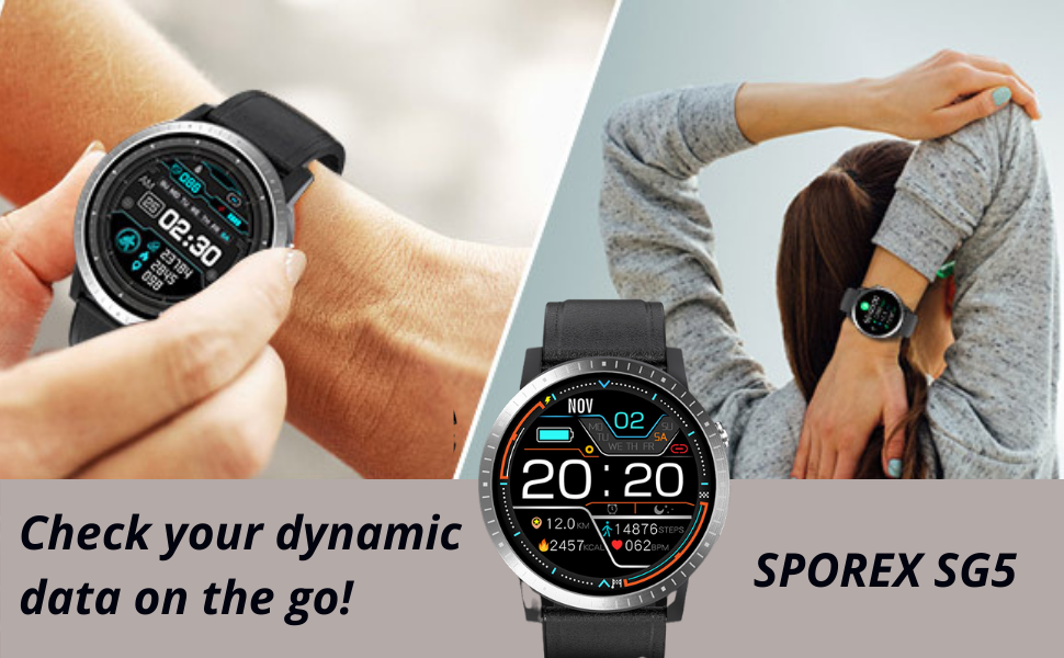 SPOREX SG5 Heart Rate Blood Pressure Monitor for Android phones and iphone compatible